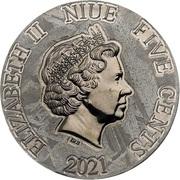 5 Cents - Elizabeth II (Meganeura) – obverse
