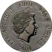 5 Cents - Elizabeth II (Encrinus Liliiformis) – obverse
