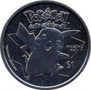 1 Dollar - Elizabeth II (Pikachu) – reverse