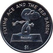 1 Dollar - Elizabeth II (Snoopy) – reverse
