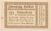 20 Heller (Nöchling) -  obverse
