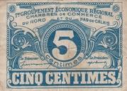 5 centimes - Chambres de Commerce du Nord et du Pas-de-Calais – obverse