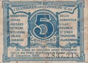 5 centimes - Chambres de Commerce du Nord et du Pas-de-Calais – reverse