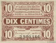 10 centimes - Chambres de Commerce du Nord et du Pas-de-Calais – obverse