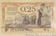 25 centimes - Chambres de Commerce du Nord [59] et du Pas-de-Calais [62] – obverse