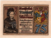 75 Pfennig (Verkehrsverein) – obverse