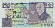 5 Pounds (Northern Bank) – obverse