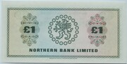 1 Pound (Northern Bank) – reverse