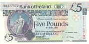 5 Pounds (Bank of Ireland) -  obverse