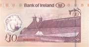 10 Pounds (Bank of Ireland) -  reverse