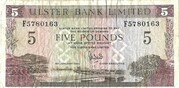 5 Pounds (Ulster Bank Limited) – obverse
