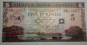 5 Pounds (Ulster Bank Limited; George Best) – obverse