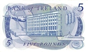 5 Pounds (Bank of Ireland) – reverse
