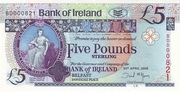 5 Pounds (Bank of Ireland) – obverse