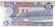 5 Pounds (Bank of Ireland) – reverse