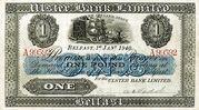 1 Pound (Ulster Bank) – obverse