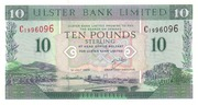 10 Pounds (Ulster Bank) – obverse