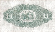 1 Pound (Provincial Bank of Ireland) – reverse