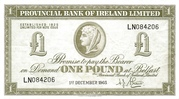 1 Pound (Provincial Bank of Ireland) – obverse