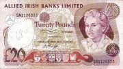 20 Pounds (Allied Irish Banks) – obverse