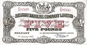 5 Pounds (Belfast Banking Company) – obverse