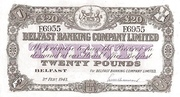 20 Pounds (Belfast Banking Company) – obverse