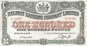 100 Pounds (Belfast Banking Company) – obverse