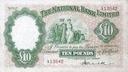 10 Pounds (National Bank) – obverse