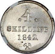 4 Skilling - Carl XIV -  reverse
