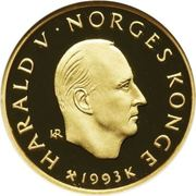 1500 Kroner - Harald V (1994 Olympics - Roald Amundsen) -  obverse