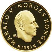 1500 Kroner - Harald V (1994 Olympics in Lillehammer) -  obverse