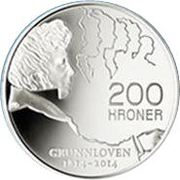 200 Kroner - Harald V (200th anniversary of the constitution) – reverse