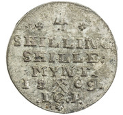 4 Skilling - Frederik VI – reverse