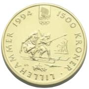 1500 Kroner - Harald V (1994 Olympics) -  reverse