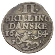2 Skilling - Christian V – reverse