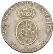 2/3 Speciedaler - Christian VII – reverse