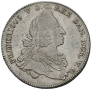 1 Reisedaler - Frederik V – obverse