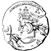1 Penning - Magnus Berrføtt – obverse