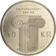10 Kroner - Harald V (Norway University Anniversary) – reverse