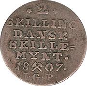 2 Skilling - Christian VII – reverse