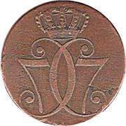 1 Skilling Danske - Christian VII – obverse