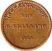 6 Skilling - Frederik VI – reverse