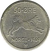 50 Øre - Olav V -  reverse