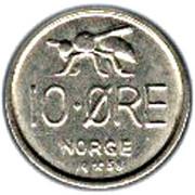 10 Øre - Olav V (small letters) -  reverse