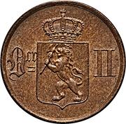 1 Øre - Oscar II -  obverse