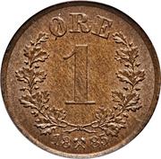 1 Øre - Oscar II -  reverse