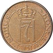 1 Øre -  Haakon VII -  obverse