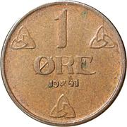 1 Øre -  Haakon VII -  reverse