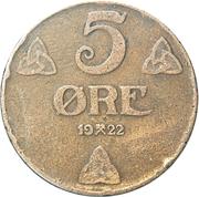 5 Øre - Haakon VII -  reverse