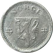 10 Øre - Haakon VII (WW2 German Occupation) -  obverse
